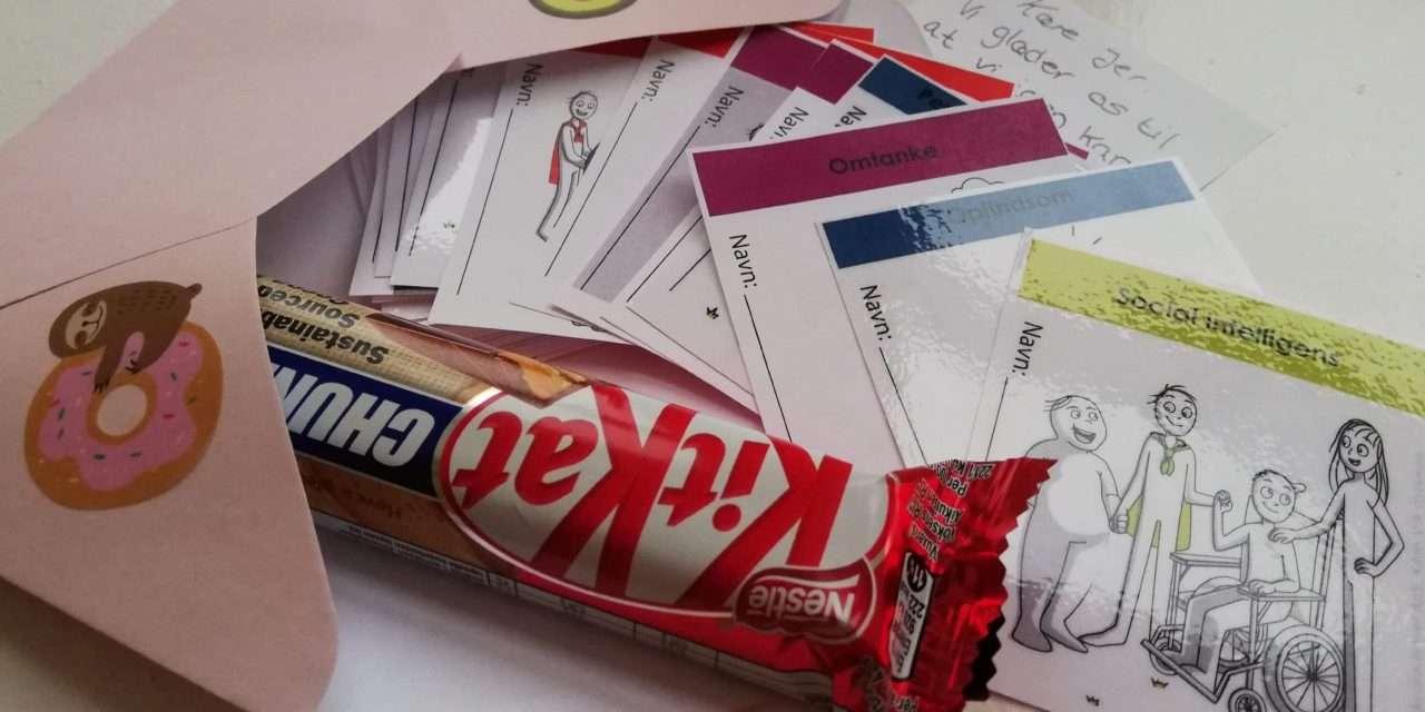 Basis+ elever glædeligt overrasket af brev i postkassen